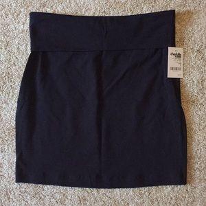 Fold over body con skirt